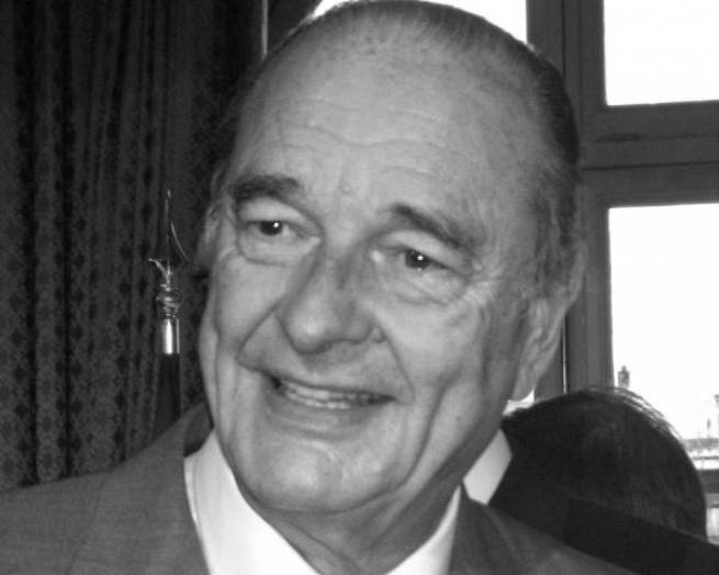 The President offered condolences over the passing of Jacques Chirac