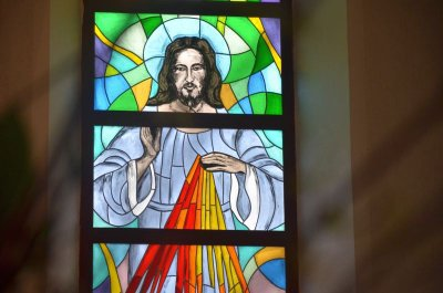 The Church of Our Lady Queen in Peace in Naujoji Vilnia has new stained glass windows