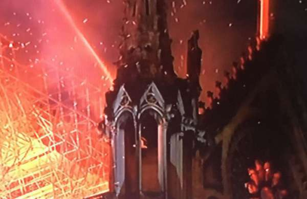 Notre Dame Cathedral in Paris destroyed by fire