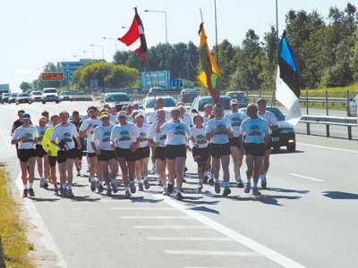 """The youth from the Vilnius Region will commemorate the anniversary of  the """"Baltic Chain"""" with a race"""